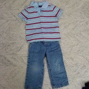 2T Polo and Jeans